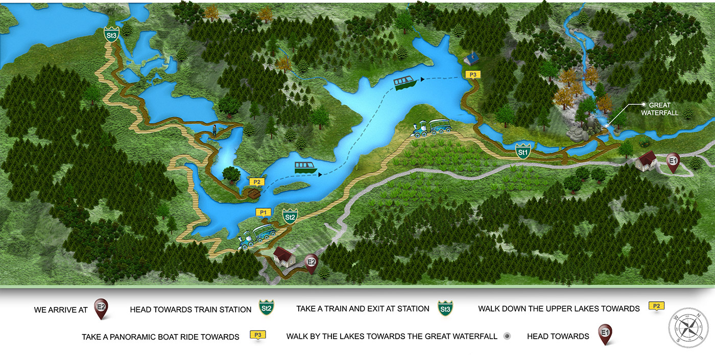 Plitvice Lakes tour map
