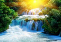 Cascading-Krka-waterfalls