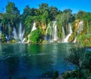 Kravice waterfalls and lake