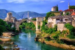Mostar bridge and river