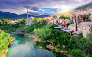 view over the Mostar river