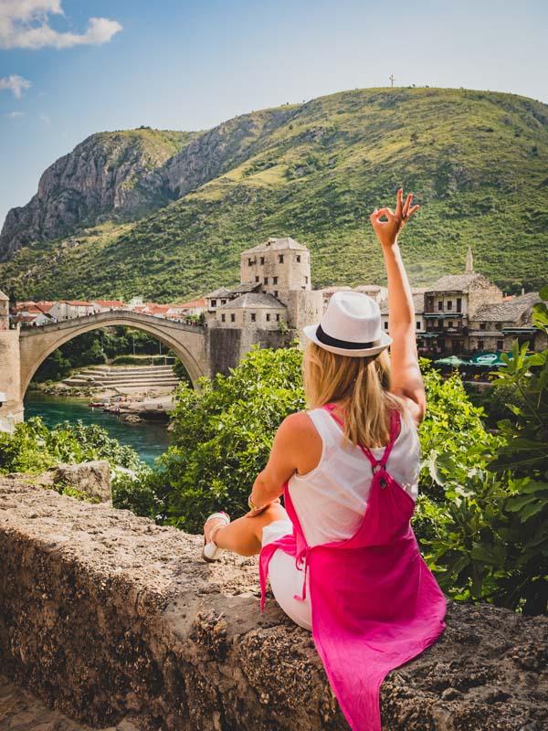 Say hello to Mostar bridge