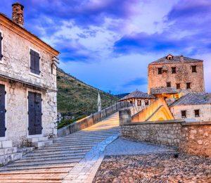 Stairs towards Mostar bridge