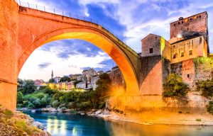 under the Mostar bridge