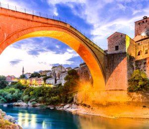 Under the Mostar bridge