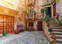 charming-Trogir-old-town-street