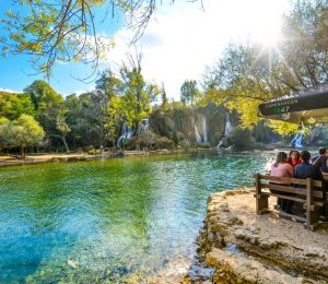 resting by the lake in Kravice