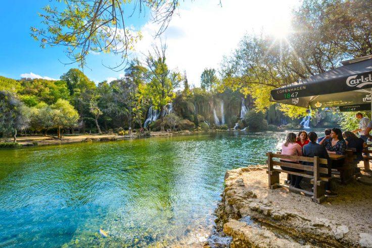 restaurant by Kravice waterfalls