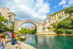 jumping from Mostar bridge