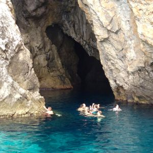 swimming-in-front-of-monk-seal-cave-island-bisevo