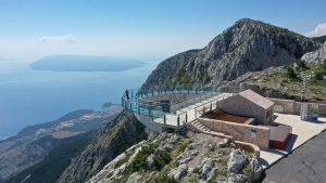 Biokovo skywalk with islands in the view