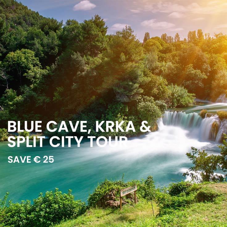 Blue Cave tour, Krka tour and Split walking tour from Split