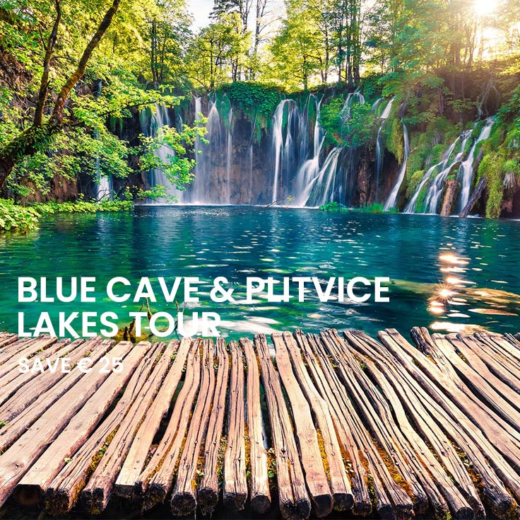 Blue cave & Plitvice Combo Saver tours from Split