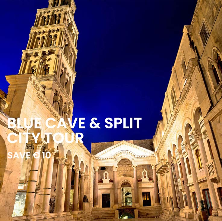 Blue Cave and Split walking tour from Split
