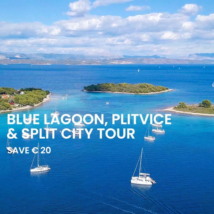 Blue Lagoon tour, Plitvice Tour and Split walking tour from Split