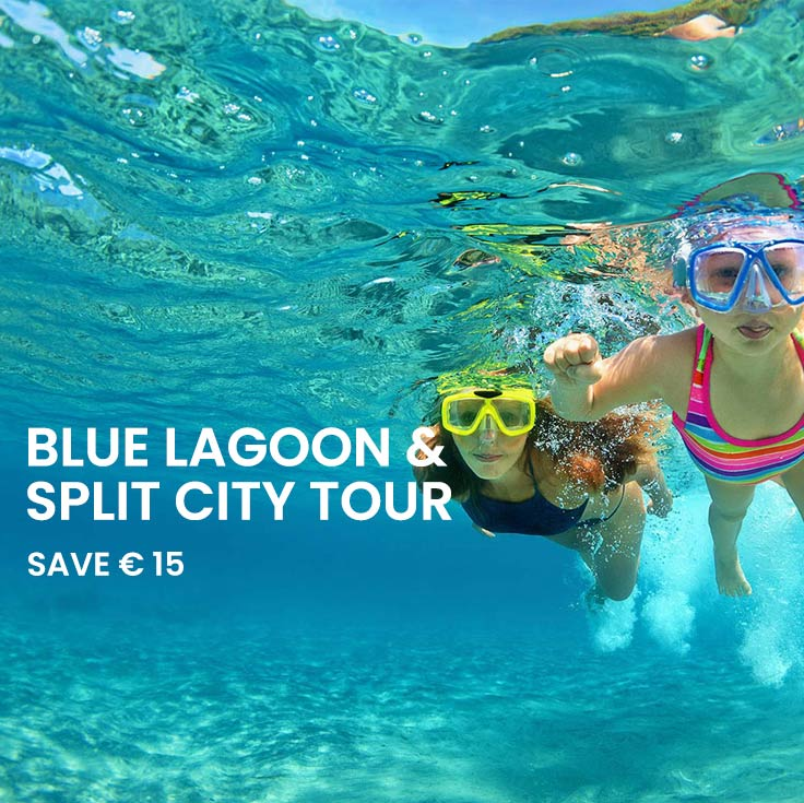 Blue Lagoon tour and Split walking tour from Split