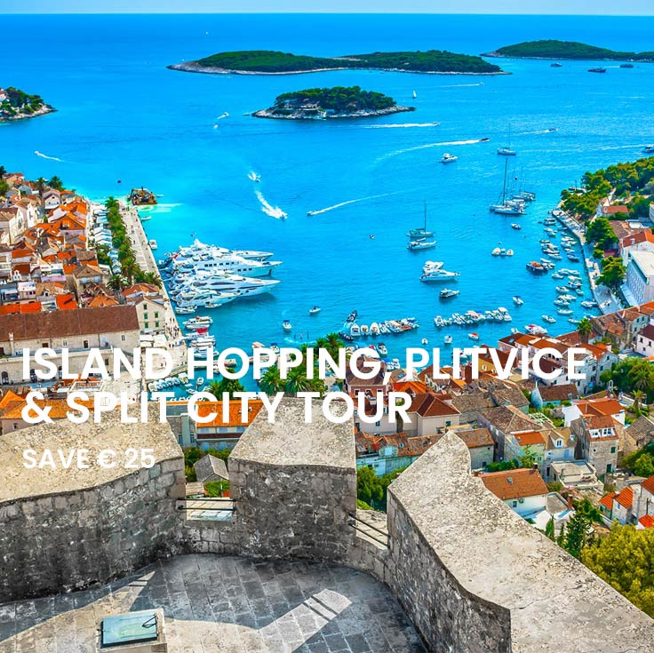 Blue Lagoon, Hvar and Trogir Tour, Plitvice Lakes and Split city tour from Split