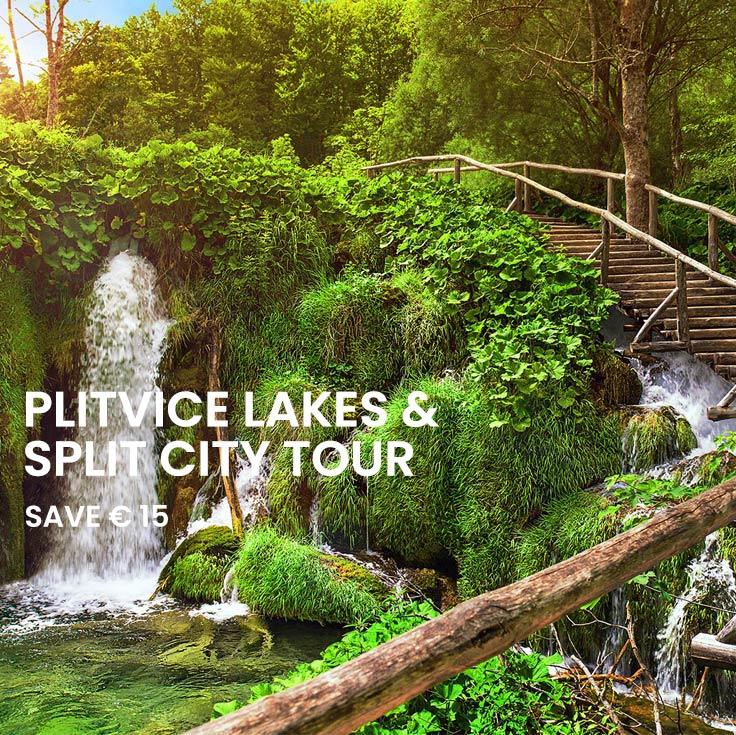 Plitvice lakes tour and Split city tour from Split