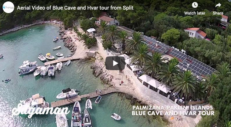 video of the blue cave tour from split