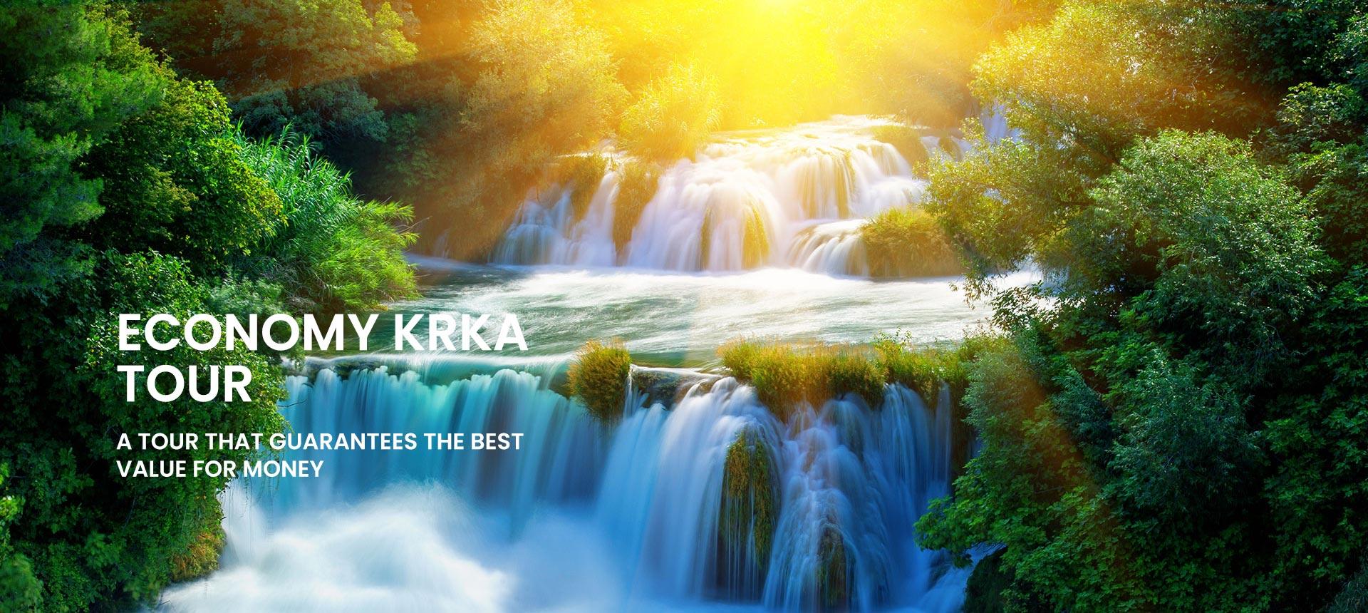 Economy tour to Krka waterfalls