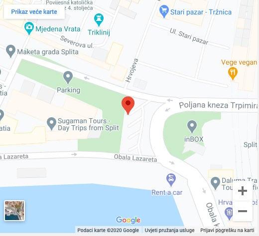 mjesto sastanka za kopnene izlete iz Splita