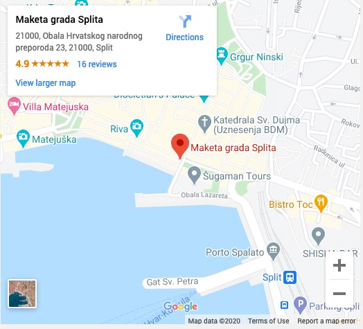 meeting point for economy tour from Split