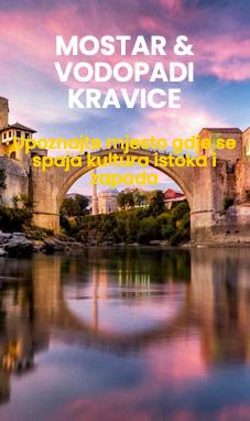 jednodnevni izlet Mostar i Kravice