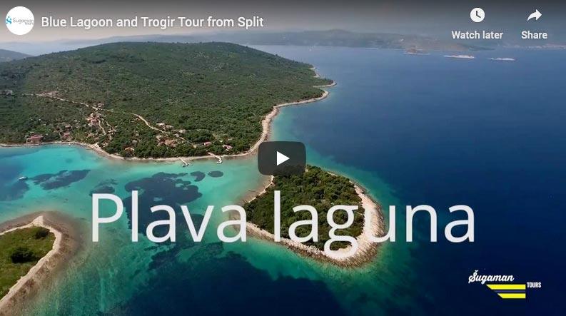 video sa izleta u plavu lagunu i trogir
