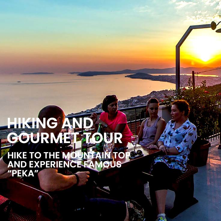 private hiking and gourmet tour