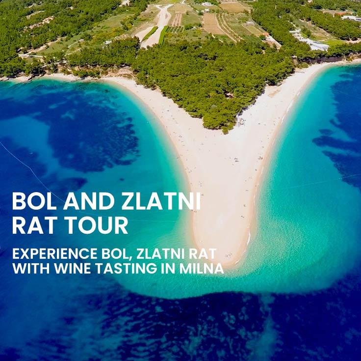 Private Bol and Zlatni Rat tour from Split