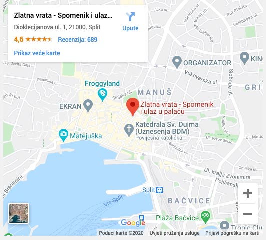 meeting point for Split walking tour