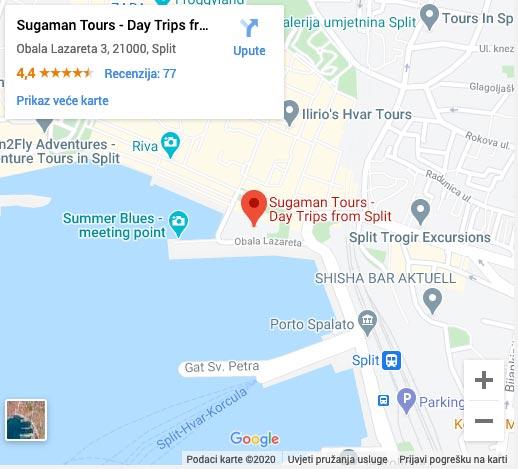 kako doci do ureda Šugaman Tours